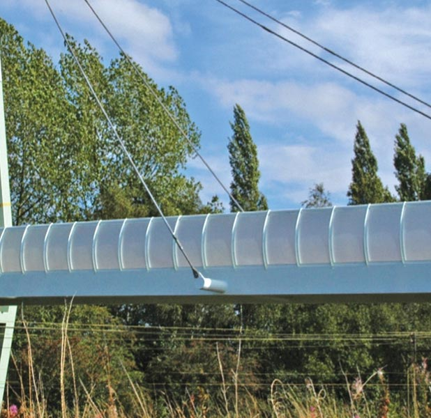 VulcaLucent™ bridge balustrade moulded curved