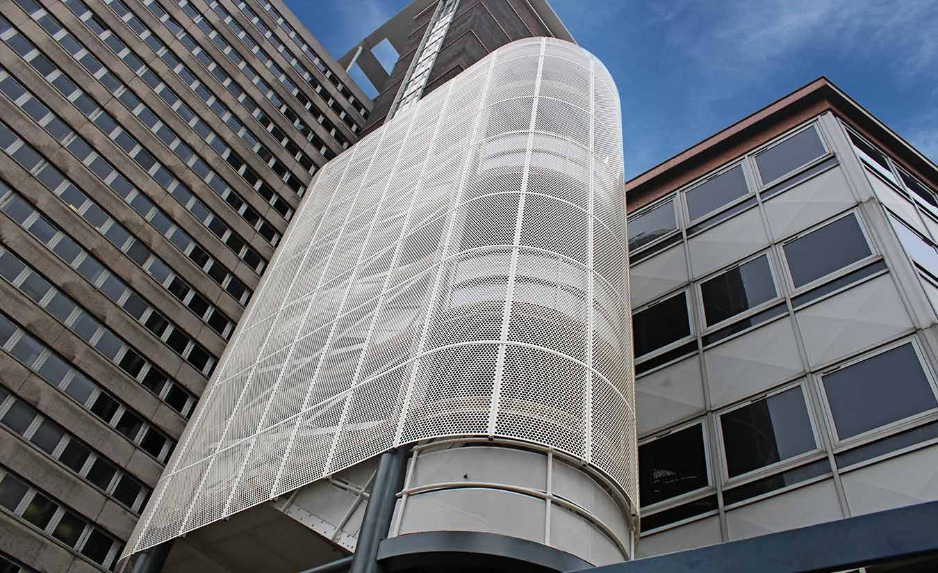 Perforated Cladding Panels - Fire Escape