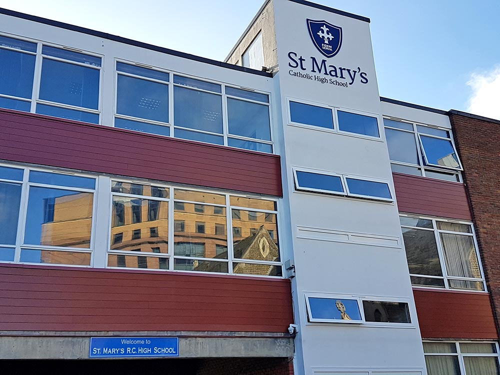 (St Mary's RC school Croydon), VulcaLap T&G BS 04-C-39, installed by WAA Roofing