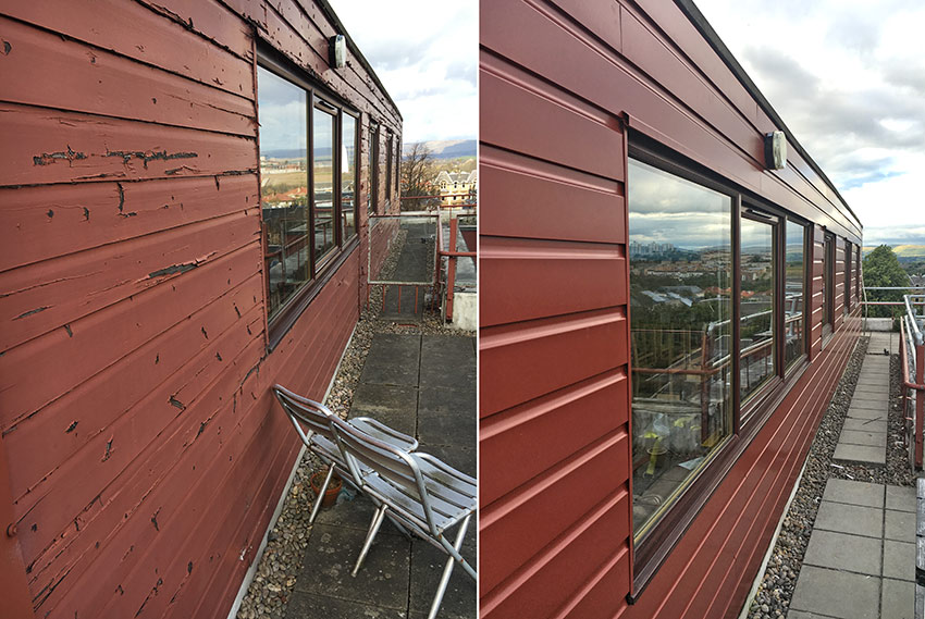 VulcaLap® aluminium Shiplap weatherboard cladding plank