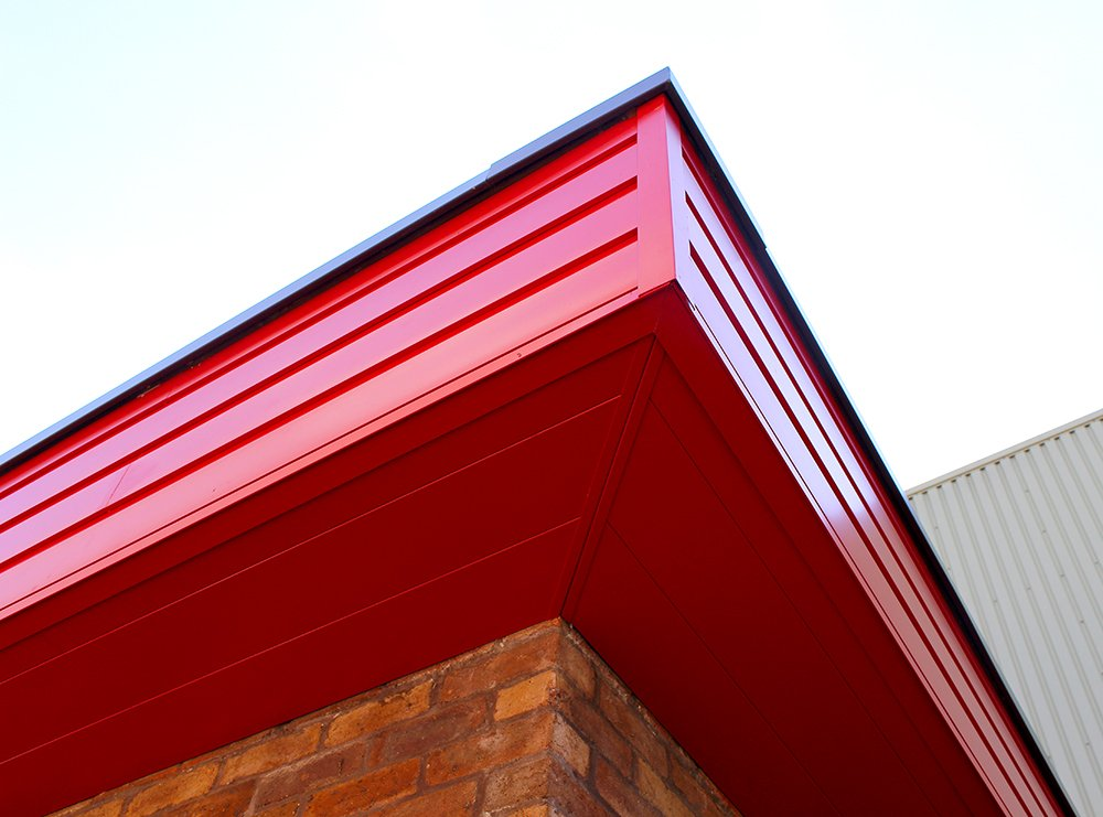 aluminium rainscreen fascia and soffit