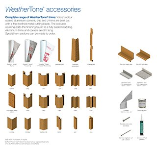 WeatherTone engineered timber cladding trims and accessories