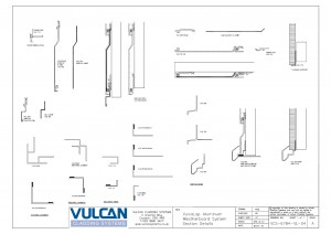 VulcaLap Aluminium Weatherboard System Section Details