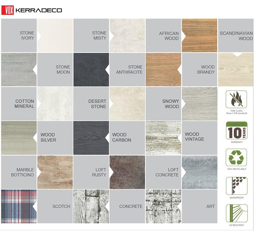VOX Kerradeco colour range