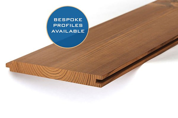 Thermowood timber cladding profiles