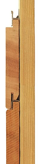 Western Red Cedar hidden fixing clip