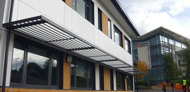 VulcaTuf composite cladding panel GRP