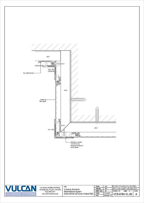 aluminium rainscreen corner detail