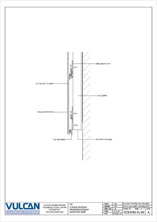 aluminium rainscreen starter trim detail