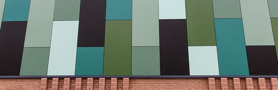 Vulcatuf GRP rainscreen cladding panel