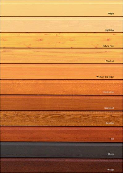 aluminium wood finishes