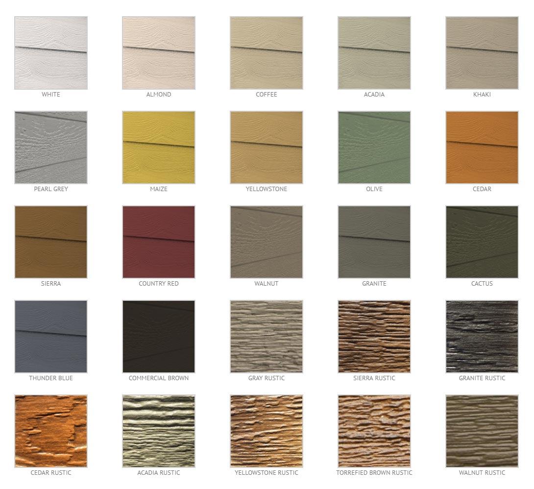 Naturetech Composite Cladding Colour Range