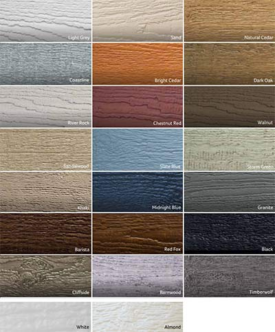 cladding colours