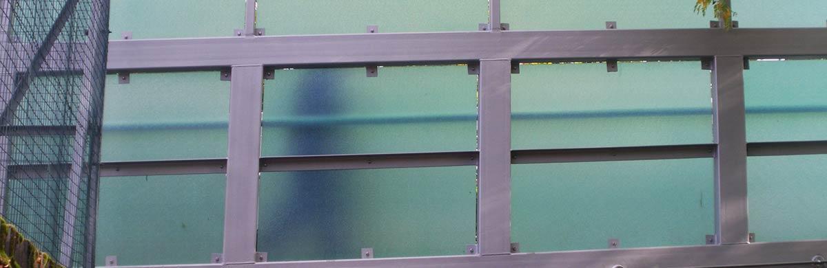 Translucent cladding panels bridge and balcony