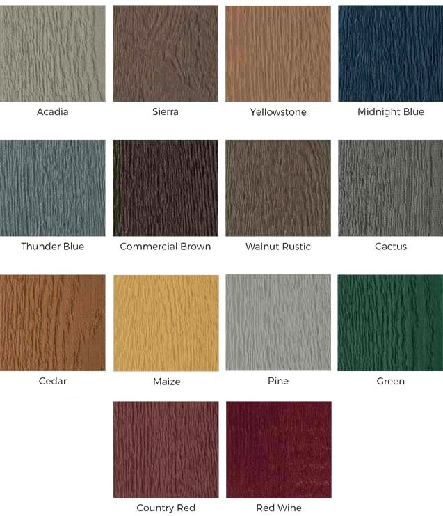 cladding colours special order